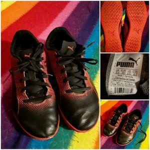 Puma Unisex (6.5) Orange&Black Athletic Type Shoes